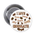 Amo el chocolate pin