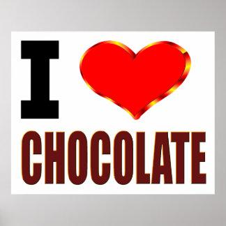 Amo el chocolate póster