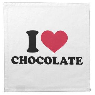 Amo el chocolate servilleta