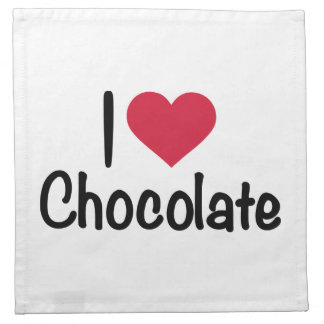 Amo el chocolate servilleta imprimida