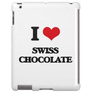 Amo el chocolate suizo funda para iPad