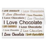 Amo el chocolate tarjeton