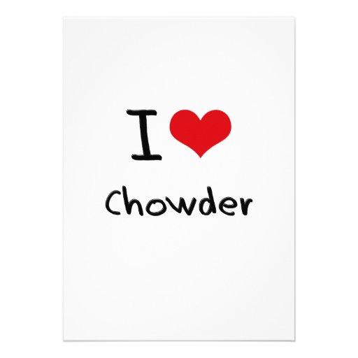 Amo el Chowder Invitación