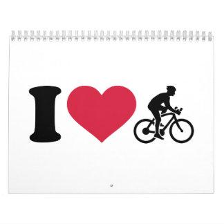 Amo el ciclo de la bici calendarios de pared