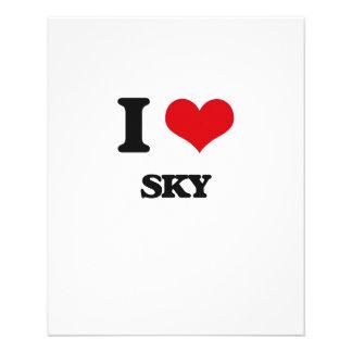 """Amo el cielo folleto 4.5"""" x 5.6"""""""