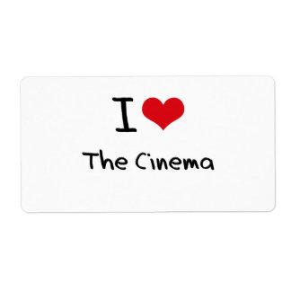 Amo el cine etiquetas de envío