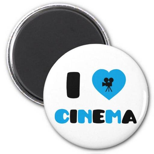 Amo el cine imán redondo 5 cm