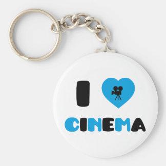 Amo el cine llavero redondo tipo pin