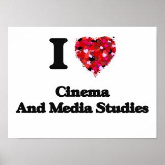 Amo el cine y estudios de los medios póster