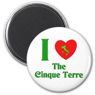 Amo el Cinque Terre Italia Imán Redondo 5 Cm