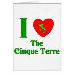 Amo el Cinque Terre Italia Tarjetón