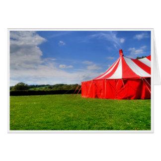 Amo el circo tarjeta de felicitación