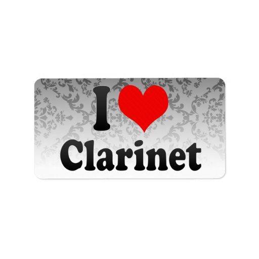 Amo el Clarinet Etiqueta De Dirección