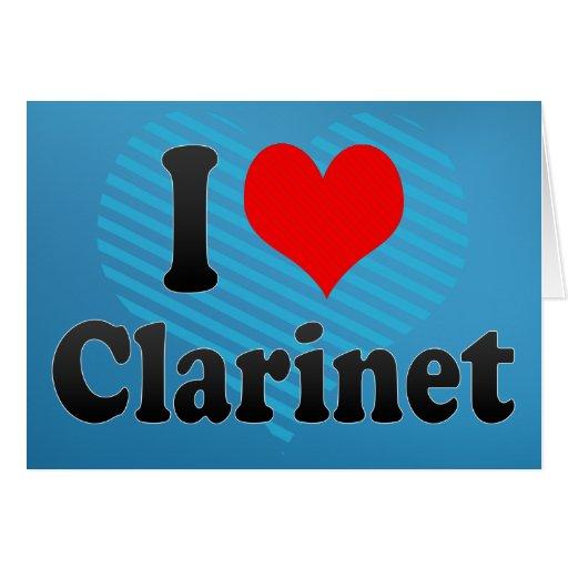 Amo el Clarinet Felicitación