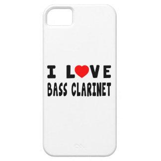 Amo el clarinete bajo iPhone 5 Case-Mate coberturas