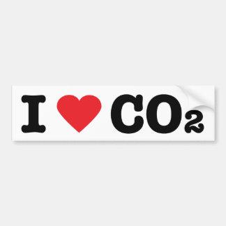 Amo el CO2 Pegatina De Parachoque