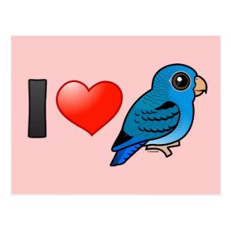 Amo el cobalto Linnies Tarjetas Postales