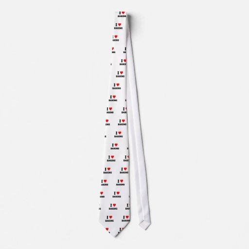 Amo el cocer corbata personalizada