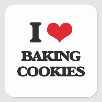 Amo el cocer de las galletas pegatina cuadrada