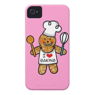 Amo el cocer (la galleta del hombre de pan de jeng Case-Mate iPhone 4 cobertura