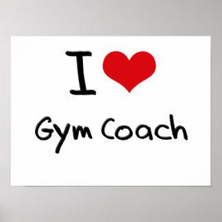 Amo el coche del gimnasio posters