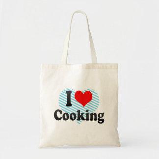 Amo el cocinar bolsa de mano