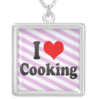 Amo el cocinar collar personalizado