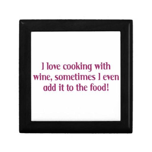 Amo el cocinar con el vino cajas de regalo