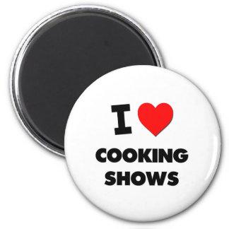 Amo el cocinar de demostraciones imán redondo 5 cm