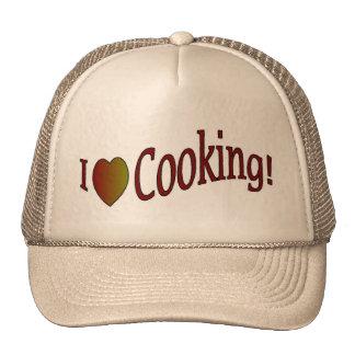 Amo el cocinar del gorra