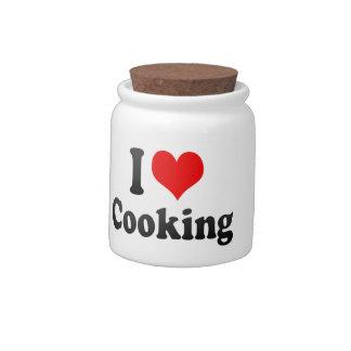 Amo el cocinar jarra para caramelo
