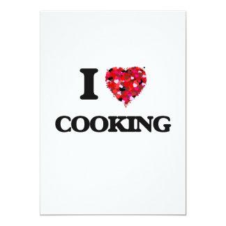 """Amo el cocinar invitación 5"""" x 7"""""""