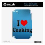 Amo el cocinar iPhone 3 calcomanías