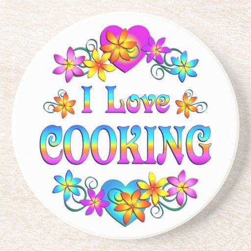 Amo el cocinar posavaso para bebida