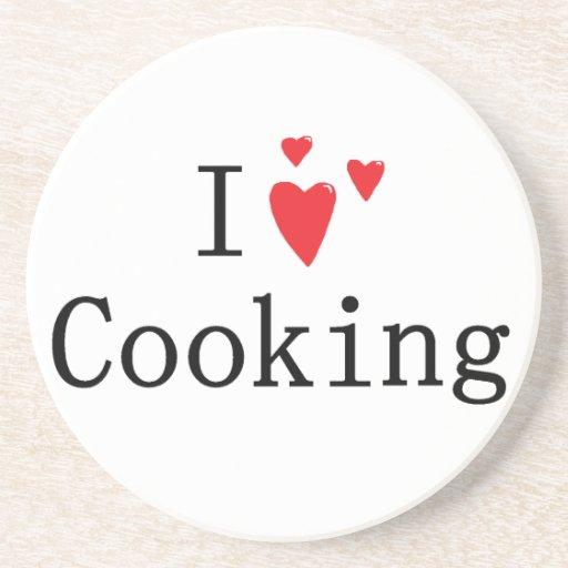 Amo el cocinar posavasos manualidades