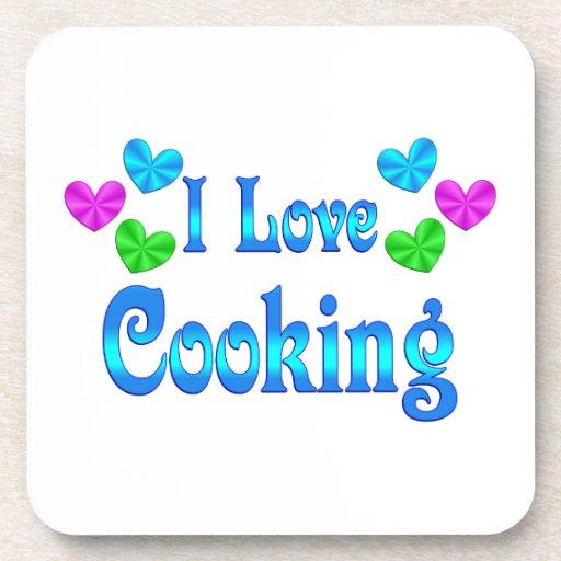 Amo el cocinar posavasos