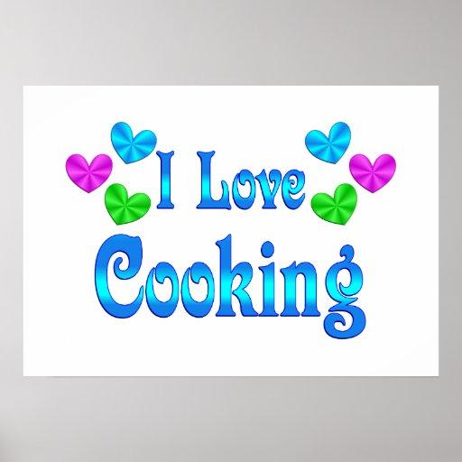 Amo el cocinar poster