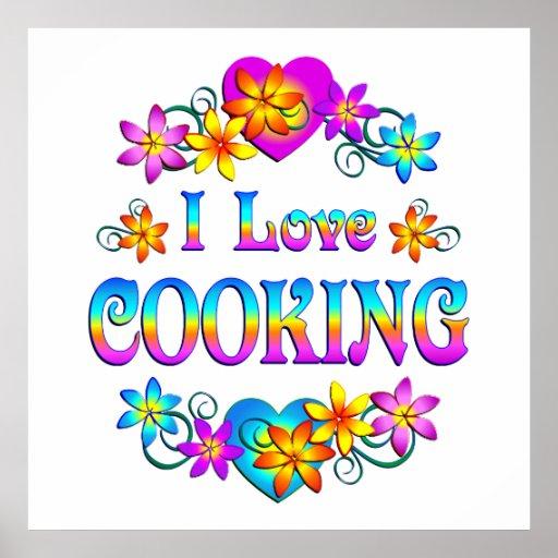 Amo el cocinar póster