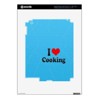 Amo el cocinar iPad 3 pegatina skin