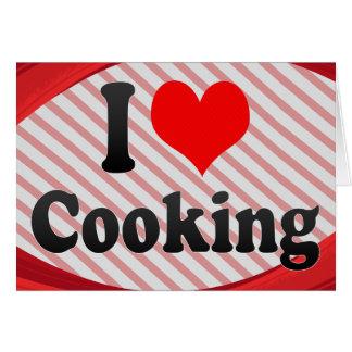 Amo el cocinar tarjetas