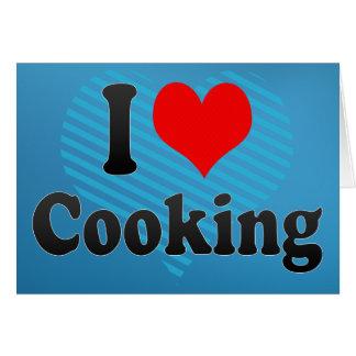 Amo el cocinar tarjetón