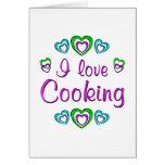 Amo el cocinar tarjeta