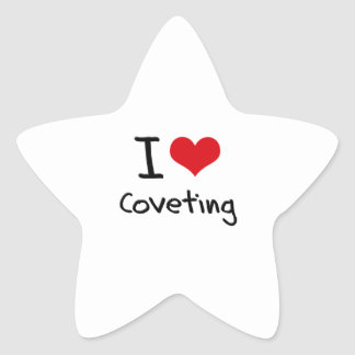 Amo el codiciar pegatina forma de estrella personalizada