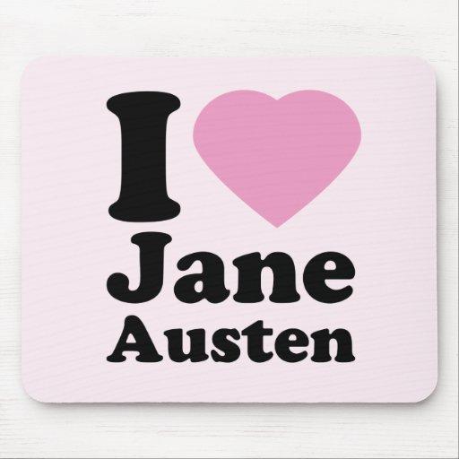 Amo el cojín de ratón de Jane Austen Tapete De Ratón