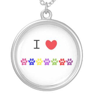 Amo el collar del pawprint del perro de los westie