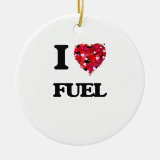 Amo el combustible adorno redondo de cerámica