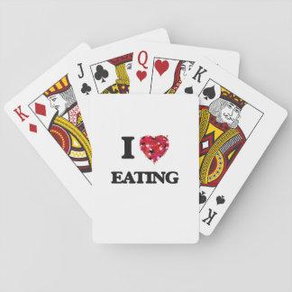 Amo el comer cartas de juego