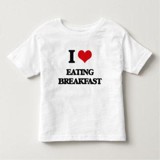 Amo el comer del desayuno playera de bebé