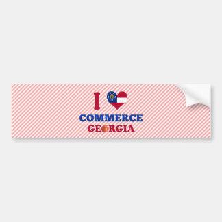 Amo el comercio, Georgia Etiqueta De Parachoque