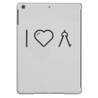 Amo el compás de la geometría funda para iPad air